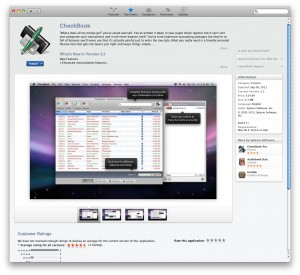 CheckBook at the Mac App Store - Can you see the support link?