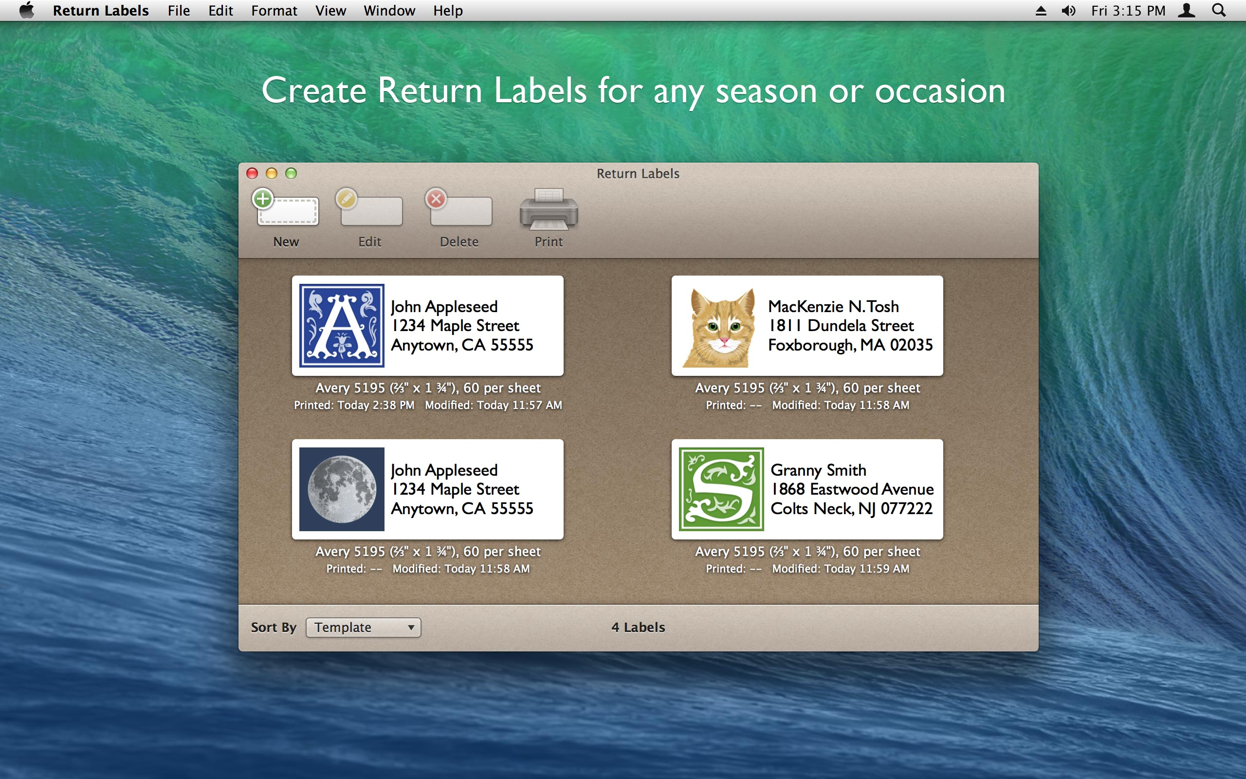 Return Labels: Create beautiful return address labels on your Mac ...