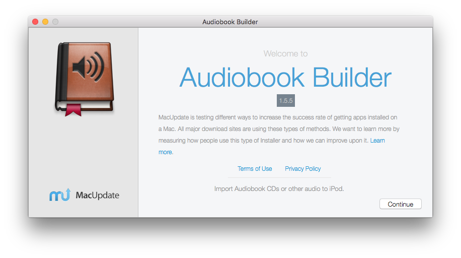 Audiobook Builder MacUpdate Installer